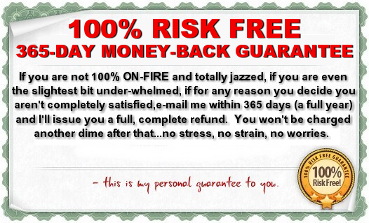 365 Day 100% Money Back Guarantee