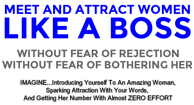 Overcome the fear of approaching women, start conversations with them, build electric attraction, get their phone numbers and make plans to see them again...all without having to be a pickup artist.